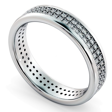 NORMA Double row Round cut Full Eternity Band - HRRFE758