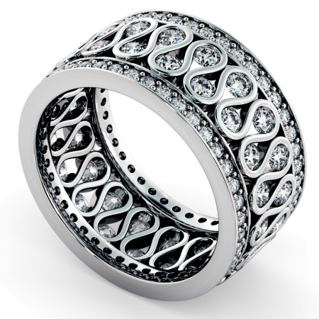 GIENAH Round cut Full Circle Designer Ring - HRRFE762
