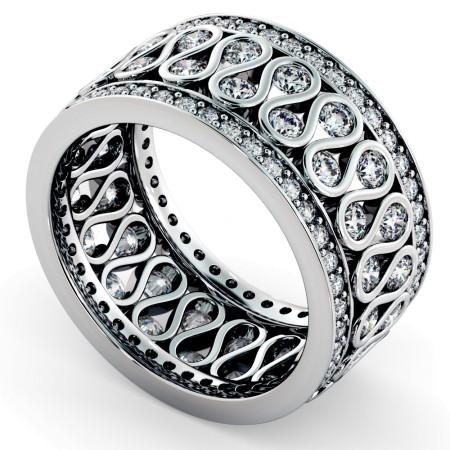 GIENAH Round cut Full Circle Designer Ring - HRRFE762