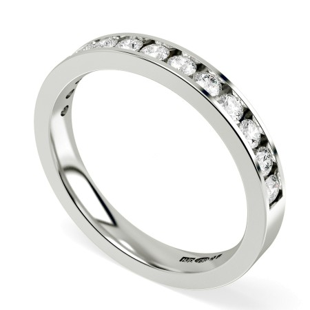 HRRHE233 Round Half Eternity Diamond Ring 0.68ct D-E / I1 - HRRHE233RN1388