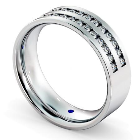 URSA Double Row Round cut Half Eternity Ring - HRRHE720