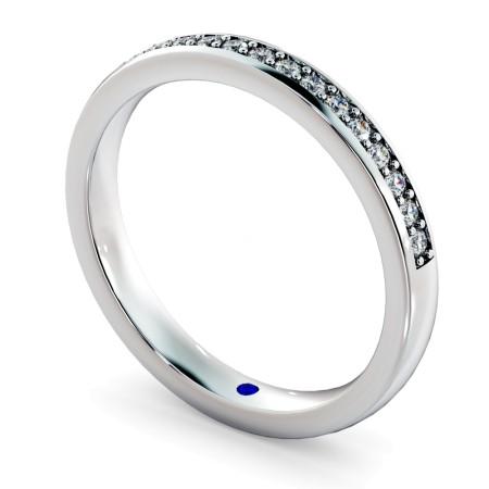 APUS Micro Pave set Half Eternity Ring - HRRHE722