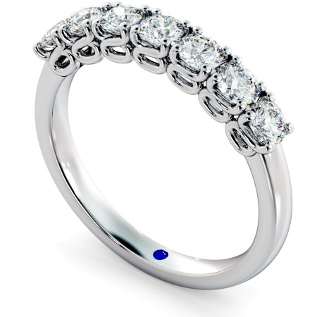 VIRGO 7 Stone Round cut Twisted Eternity Ring - HRRHE748