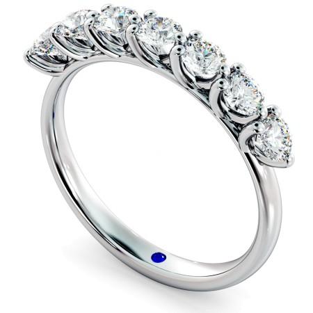 LIBRA Round cut 7 Stone Diamond Eternity Ring - HRRHE750