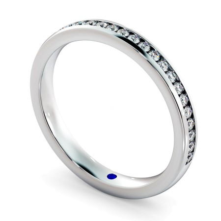 AURIGA 60% Round cut Half Eternity Ring - HRRHE769