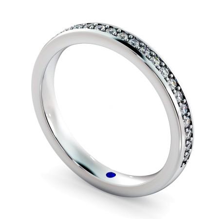 APUS 60% Micro Pave set Half Eternity Ring - HRRHE771