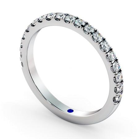 PHOENIX 60% Round cut Half Diamond Eternity Ring - HRRHE773