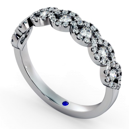 SIRIUS Round cut Crossover Designer Diamond Eternity Ring - HRRHE778