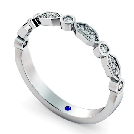 PUPPIS Round cut Diamond Designer Half Eternity Ring - HRRHE787