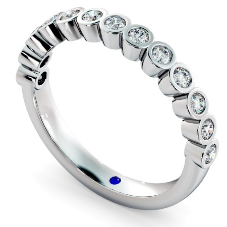 CURSA Bezel set Round cut Half Eternity Diamond Ring - HRRHE789