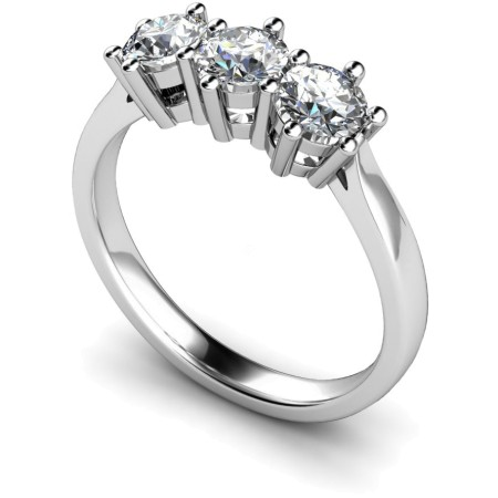 3 Round Diamonds Trilogy Ring - HRRTR101