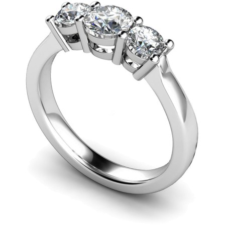 Round 3 Stone Diamond Ring - HRRTR104