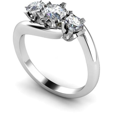 3 Round Diamonds Trilogy Ring - HRRTR105