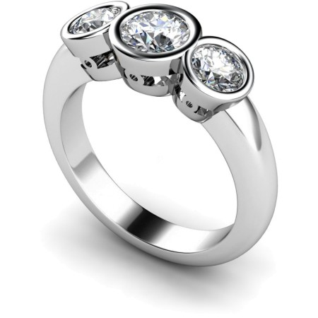 Round 3 Stone Diamond Ring - HRRTR108