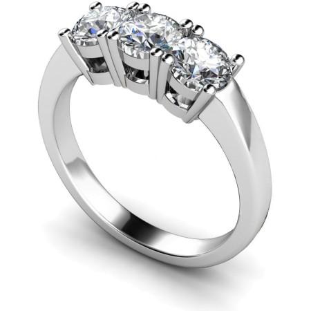 3 Round Diamonds Trilogy Ring - HRRTR110
