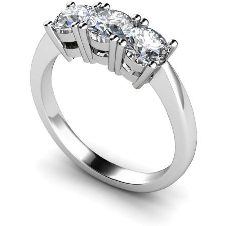 3 Round Diamonds Trilogy Ring - HRRTR111