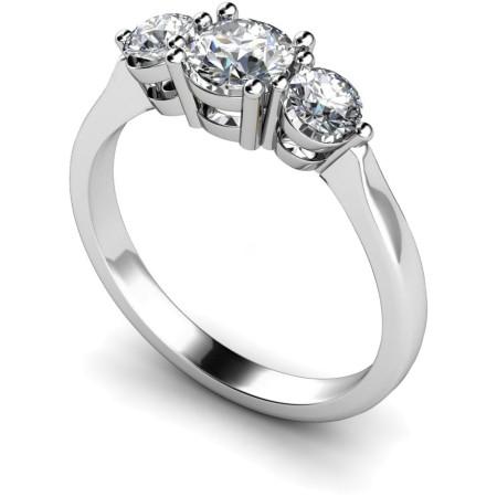 Round 3 Stone Diamond Ring - HRRTR112