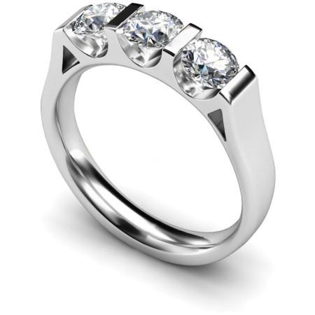 3 Round Diamonds Trilogy Ring - HRRTR113