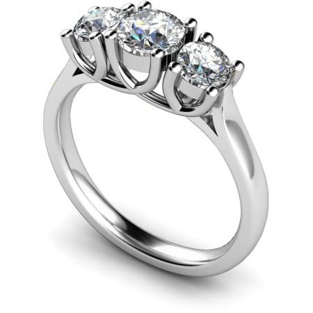 Round 3 Stone Diamond Ring - HRRTR119