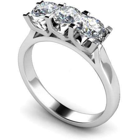 3 Round Diamonds Trilogy Ring - HRRTR122