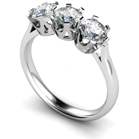 3 Round Diamonds Trilogy Ring - HRRTR127