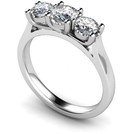 Round 3 Stone Diamond Ring - HRRTR134