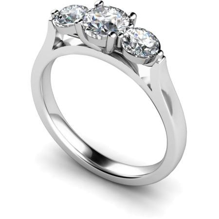 Round 3 Stone Diamond Ring - HRRTR141