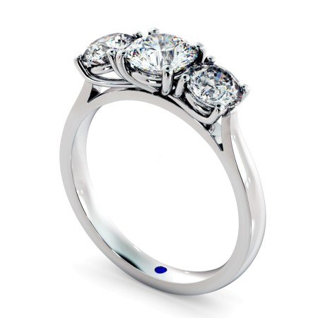 Round 3 Stone Diamond Ring - HRRTR149