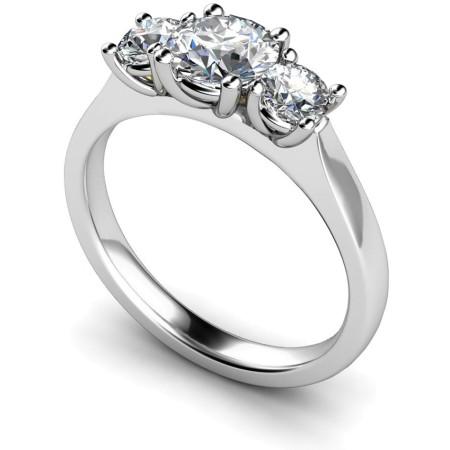 Round 3 Stone Diamond Ring - HRRTR162