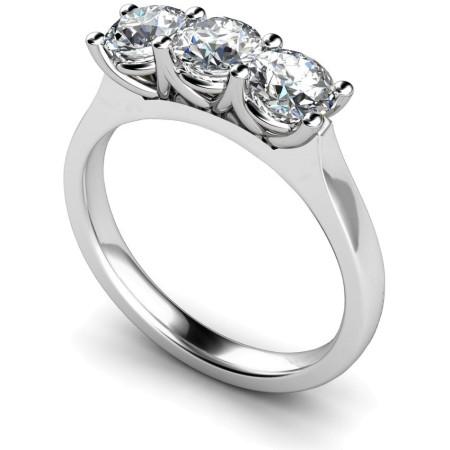3 Round Diamonds Trilogy Ring - HRRTR176