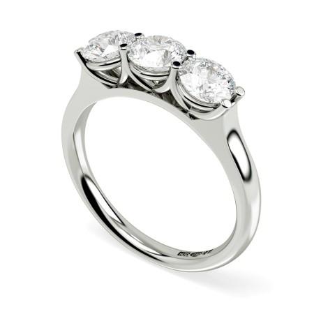 HRRTR187 3 Round Diamonds Trilogy Ring 0.30ct / D-E / SI - HRRTR187RN1943