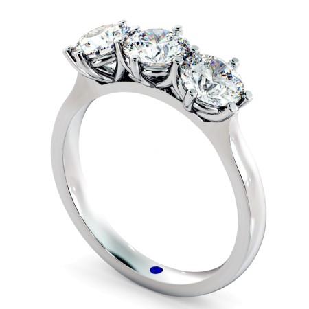 3 Round Diamonds Trilogy Ring - HRRTR189