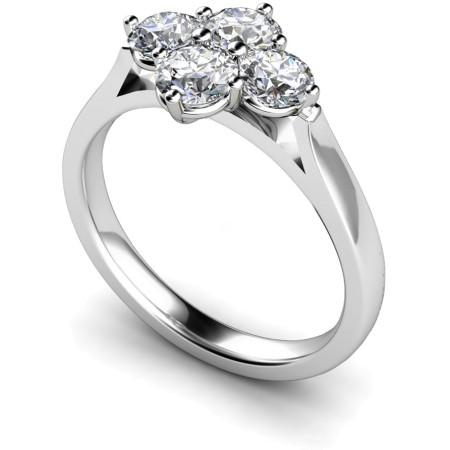 Round 4 Stone Diamond Ring - HRRTR198