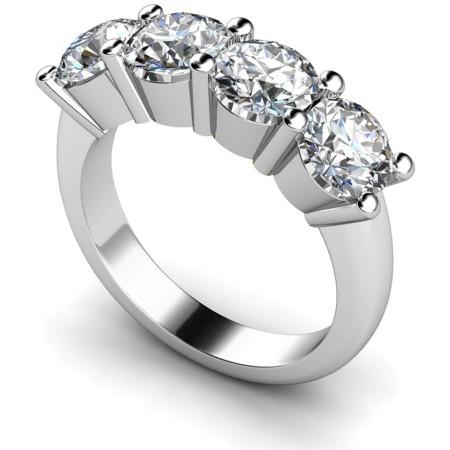 Round 4 Stone Diamond Ring - HRRTR200