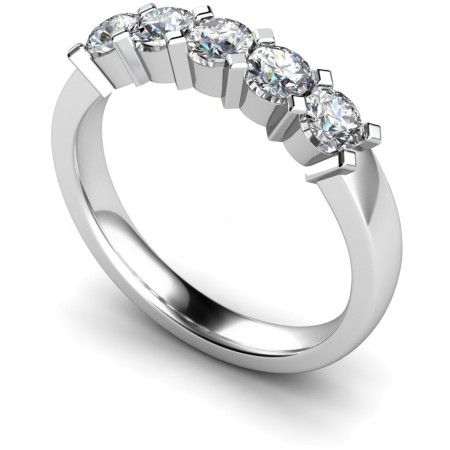 Round 5 Stone Diamond Ring - HRRTR207