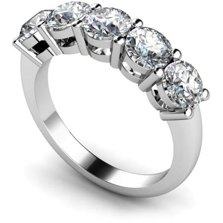Round 5 Stone Diamond Ring - HRRTR208