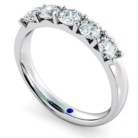 Round 5 Stone Diamond Ring - HRRTR221