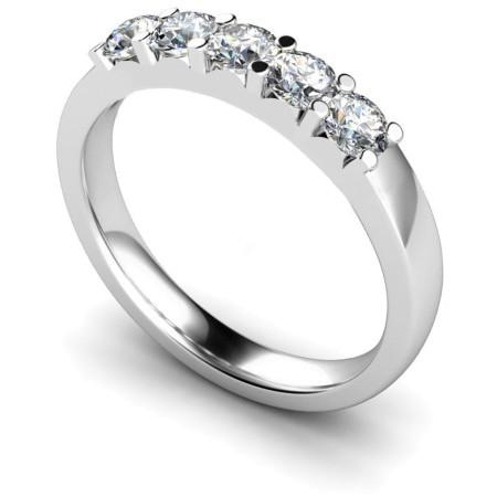 HRRTR221 Round 5 Stone Diamond Ring 1.17ct / VS / F-G - HRRTR221RN919