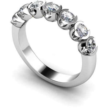 Round 7 Stone Diamond Ring - HRRTR226