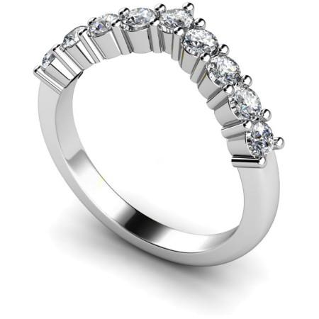 Round 9 Stone Diamond Ring - HRRTR229