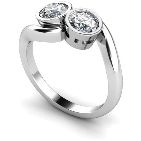 Twin Round Diamond Ring - HRRTW85