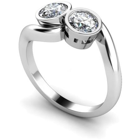 Twin Round Diamond Ring - HRRTW85