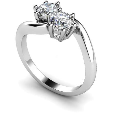 Twin Round Diamond Ring - HRRTW87