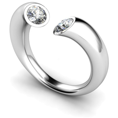 Twin Round Diamond Ring - HRRTW88