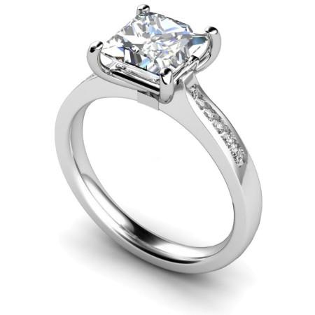 Princess Shoulder Diamond Ring - HRXSD635