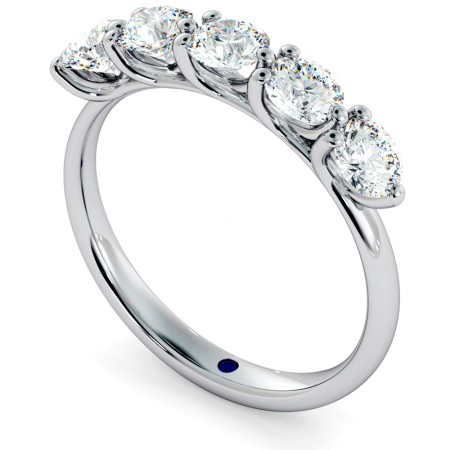 MUSCA Round cut 5 Stone Diamond Eternity Ring - HRRHE749
