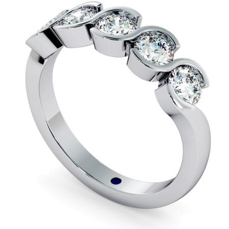 WHIRLPOOL Round cut Swirl 5 Stone Diamond Ring - HRRHE746