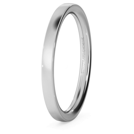 Flat Court Wedding Ring - 2mm width, Medium depth - HWNC217