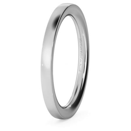 Flat Court Wedding Ring - Heavy weight, 2mm width - HWNC221