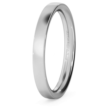 Flat Court Wedding Ring - 2.5mm width, Medium depth - HWNC2517